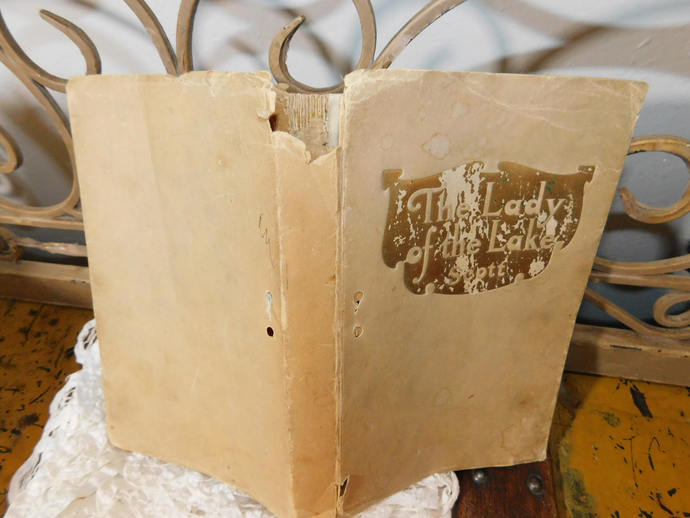 Lady of the Lake Scott Paper Back Book 1830 A Poem in Six Cantos, Vintage Book