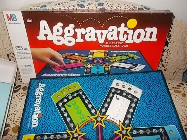 Aggravation Game Milton Bradley 1989, Marble Game, Vintage Board Game, Games,