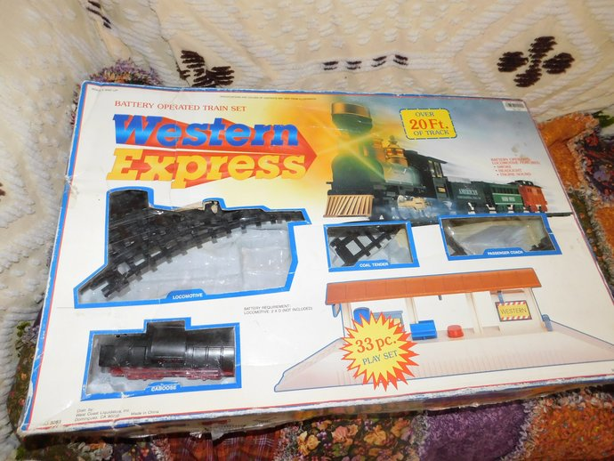 Train Set Western Express  for Parts Missing Pieces, Train, locomotive,
