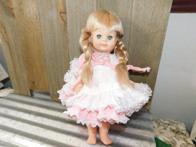 Vogue Ginny Doll in Pink 1964, Vogue Doll, Vintage Ginny Doll , Vintage Doll,