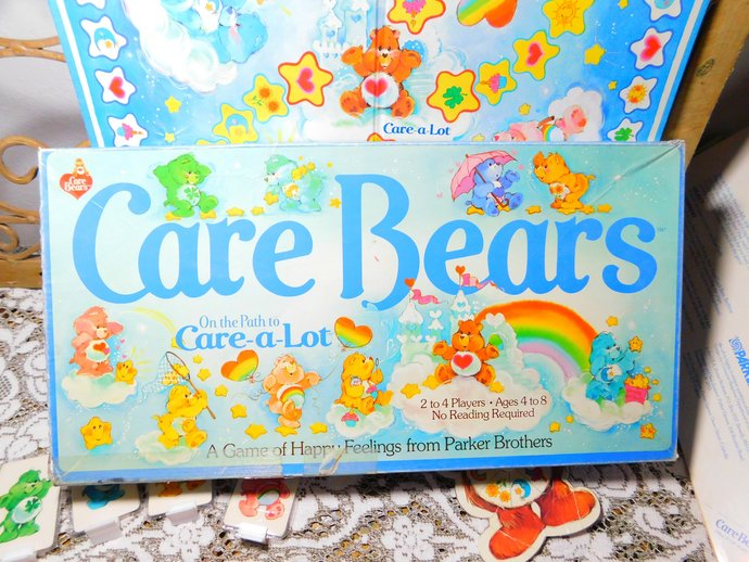 Care Bears on the Path to Care a lot Game 1983, Vintage Childs Board Game,