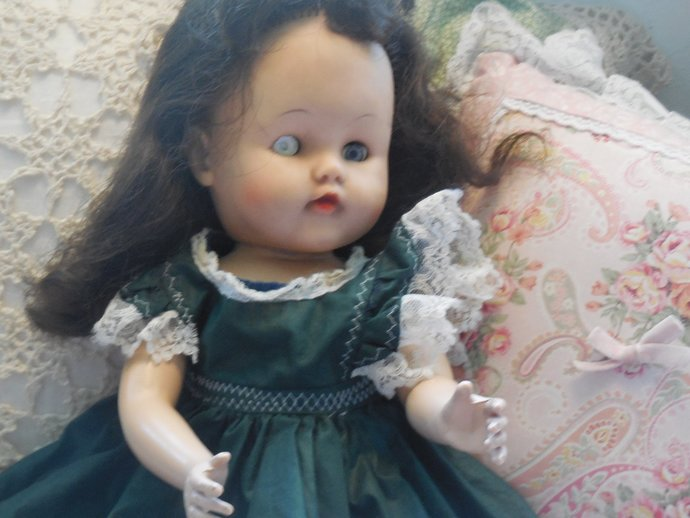 Vintage Doll No markings,  Jointed Doll, Compensation Doll, Rubber Doll, Doll
