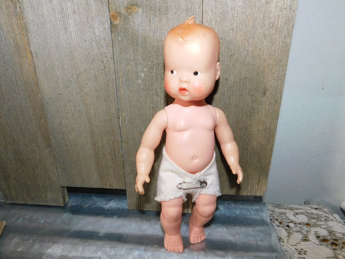 Vintage Baby Doll, Baby Doll, Plastic Baby Doll, Vintage Doll, Small Size Baby