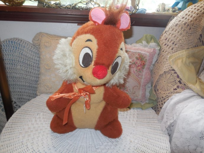 Dale Chipmunk Disney Guy/Stuffed Animal, Toys, Disney Chipmunks, Vintage Stuffed