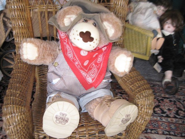 Furskin Bear, 1984 Duddley Furskin Bear, Xavier Roberts, Vintage Teddy Bear,