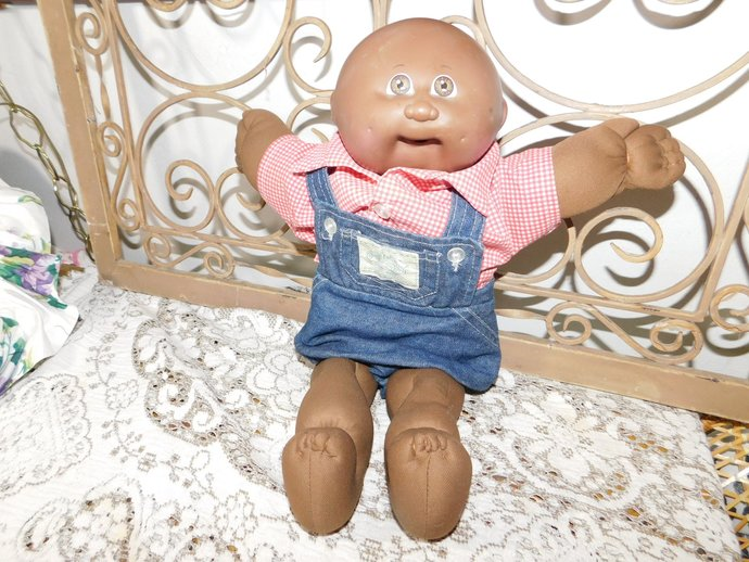 Baby Preemie 1982 ? African American Cabbage Patch Doll, Vintage Cabbage Doll,