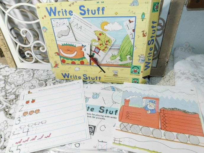 Write Stuff 15 Card Set By Discovery Toys, Learning Cards, Wipe off Learning