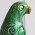 Vintage pair Chinese Sancai Green Parrot figures in Terracotta Tang Pottery