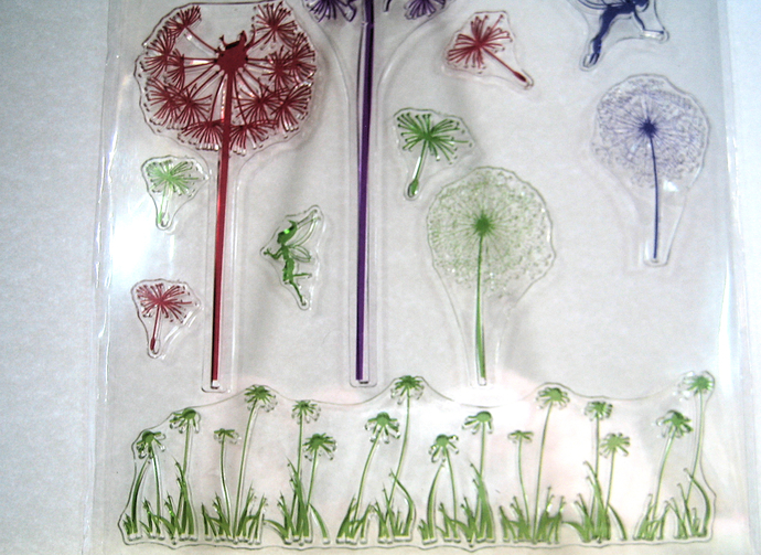 Fairy and Dandelion Clear Stamp Set Fairies Stamps