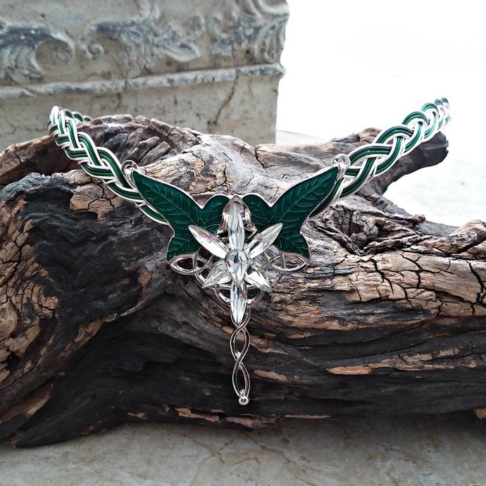 Evenstar Leaves of Lorien Circlet Tiara Elven Crown