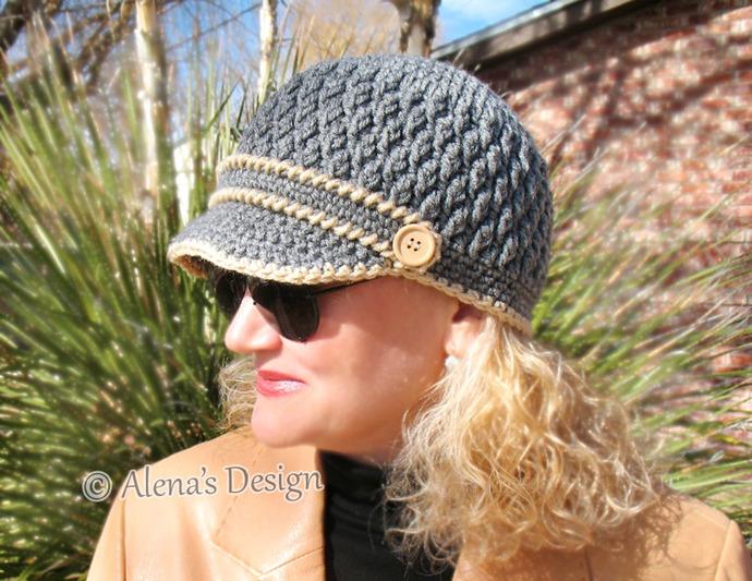 Crochet Pattern 093 Crochet Hat Pattern Hat By Alenasdesign On
