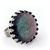 Rainbow flakes glitter ring, kawaii handmade jewelry, gift for her