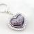 Purple animal print heart deco folding purse hook with keyholder