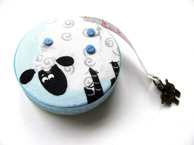Measuring Tape Sweet Sheep on Blue RetractableTape Measure