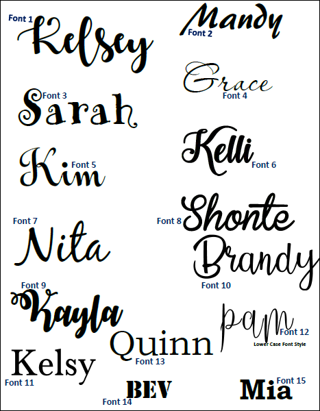 Vinyl Name Decal - D.I.Y Name Decal - Name Sticker - Name Decals Only / Name Cut