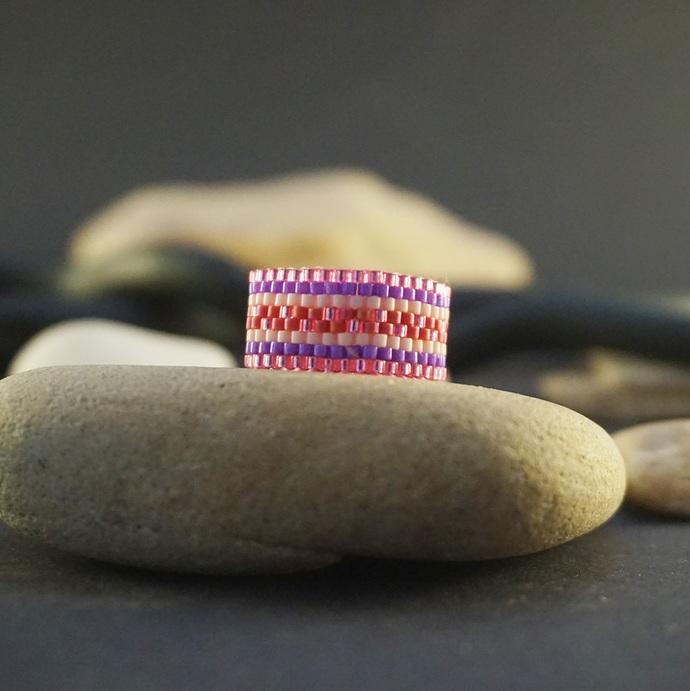 Boho rings for women, Beaded ring, Fashion rings, Tribal ring Hippie ring Wide
