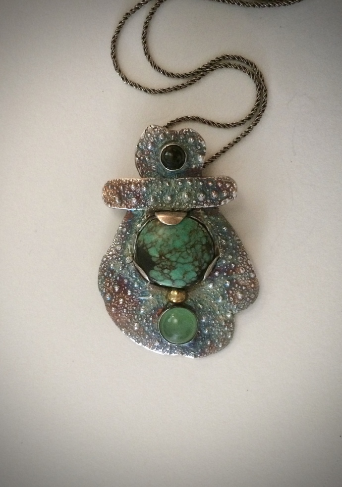 fertility goddess, pregnancy jewelry, new mother necklace, turquoise necklace