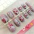 Spring in Japan nails, cute Japan themed nails, kawaii handpainted press on