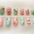 Pastel glitter fruit salad nails, kawaii press on nails