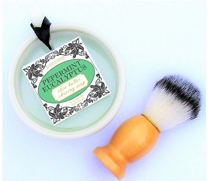 Gift Set - Shea Butter Shaving Soap & Brush
