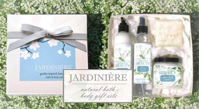 Natural Bath & Body Gift Set  - Choose Your Fragrance // Aloe Lotion // Flower