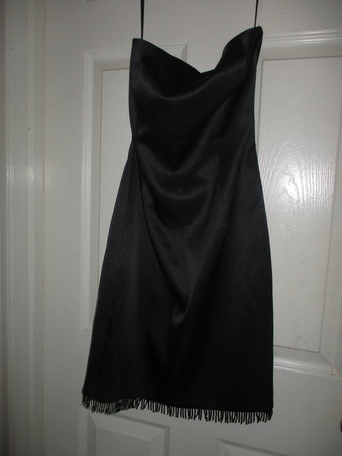 Strapless size 2 little black dress formal / wearable as-is but selling as