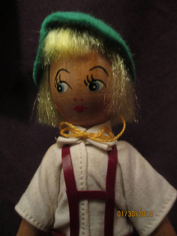 Storybook boy / small wooden doll
