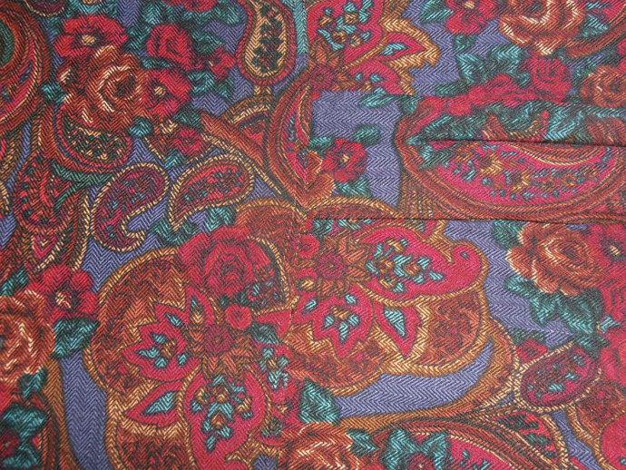 Vintage romantic paisley shirt blouse for ladies 1980s era smallish medium