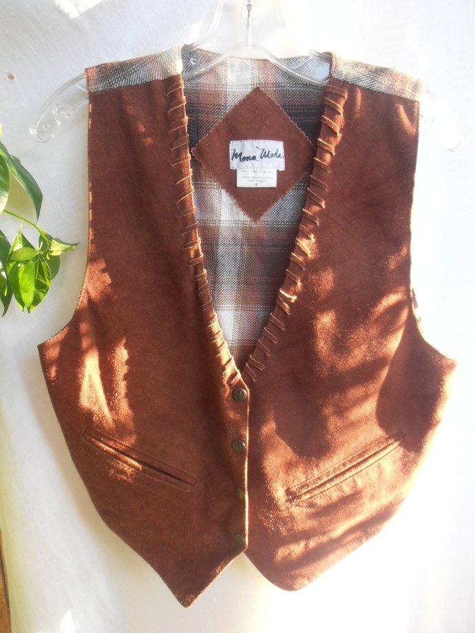 western vest leather Mona Mode sz. small