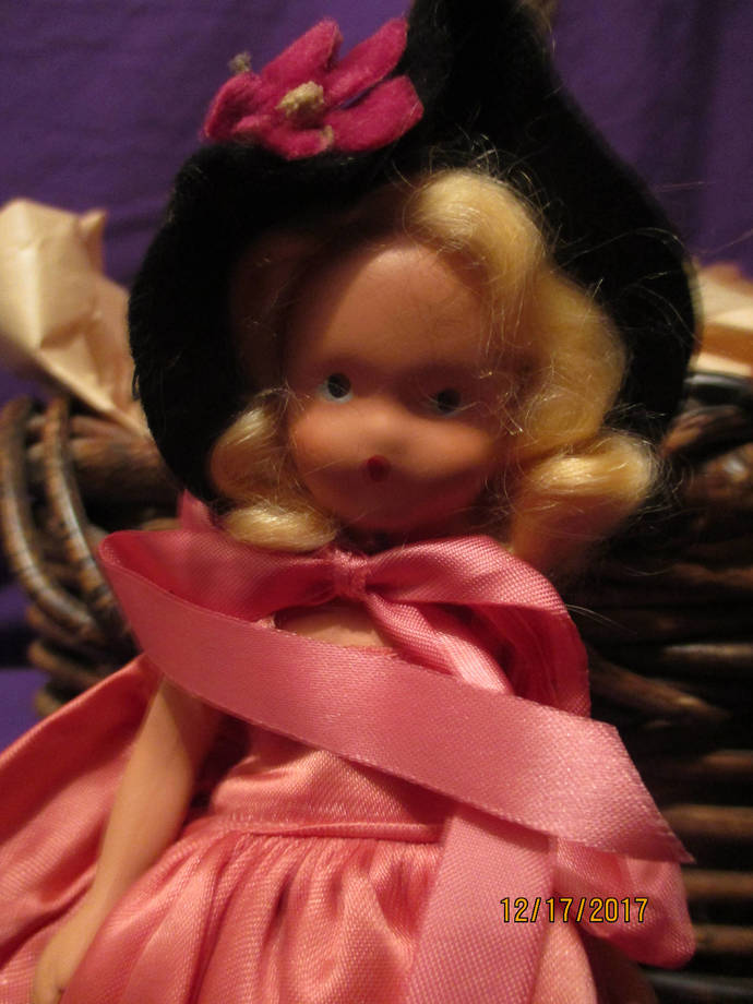 SALE/Zosa in salmon silk a storybook doll a miniature doll one of the seven