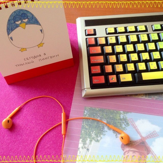Universal Keyboard stickers Decal Decoration Protector Decoration Rainbow,