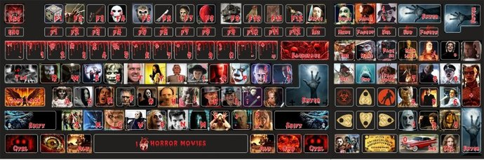 I love Horror movies Pennywise Freddy Michael Myers Jason Frankenstein Zombies
