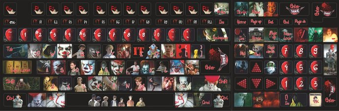 Pennywise It Stephen King Horror Universal Keyboard stickers Decal Decoration