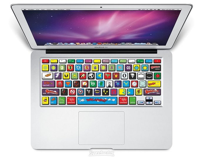 Keyboard Stickers Marvel, Super Hero, Deadpool Decoration Protector Decal Skin