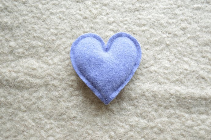 One Lavender Filled Heart Sachet - Dusty Purple Cashmere