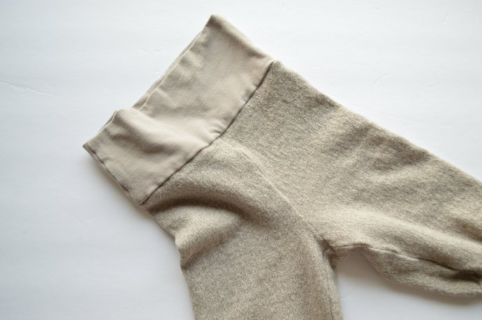 Babies Infants Beige Taupe Leggings Pants, Yoga Waistband, 100% Merino Wool Size