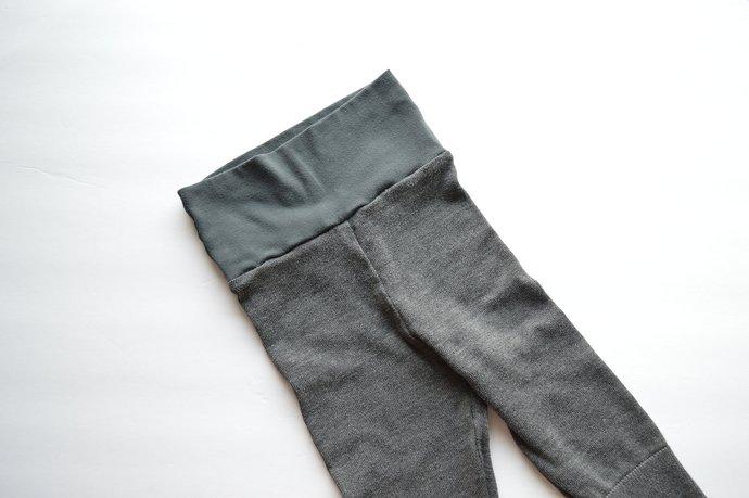 Babies Infants Grey Leggings Pants, Yoga Waistband, Silk Cotton Blend Size 9