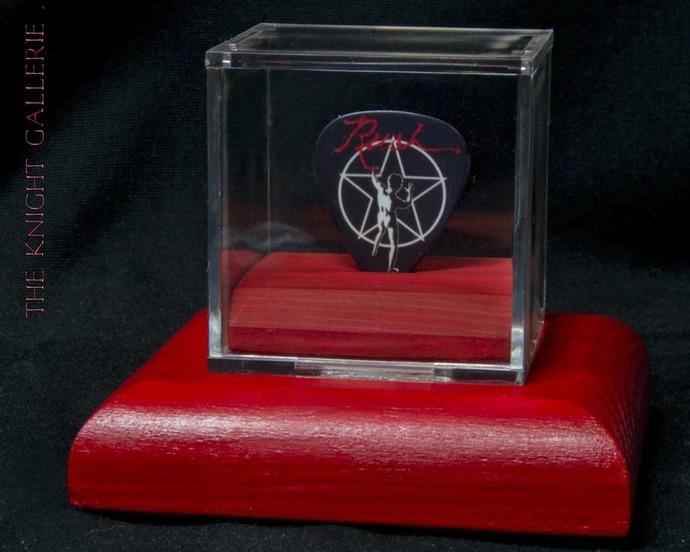 Commemorative guitar pick and display case: RUSH