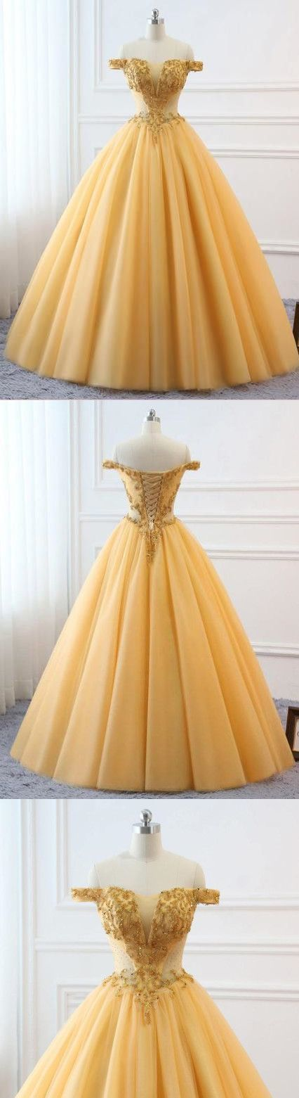 Ball Gown Vintage Prom Dress Plus Size Off The by ModelDressy on