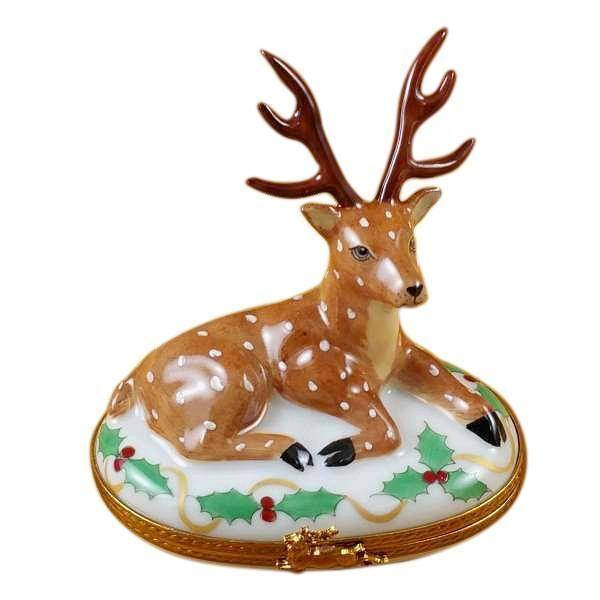 e94d7f0be Reindeer Limoges Boxes Hand-crafted & Hand-painted by Rochard Porcelain  Figurine