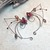 Christmas Valentine Elf Ear Cuff Wraps Red Brown Pair