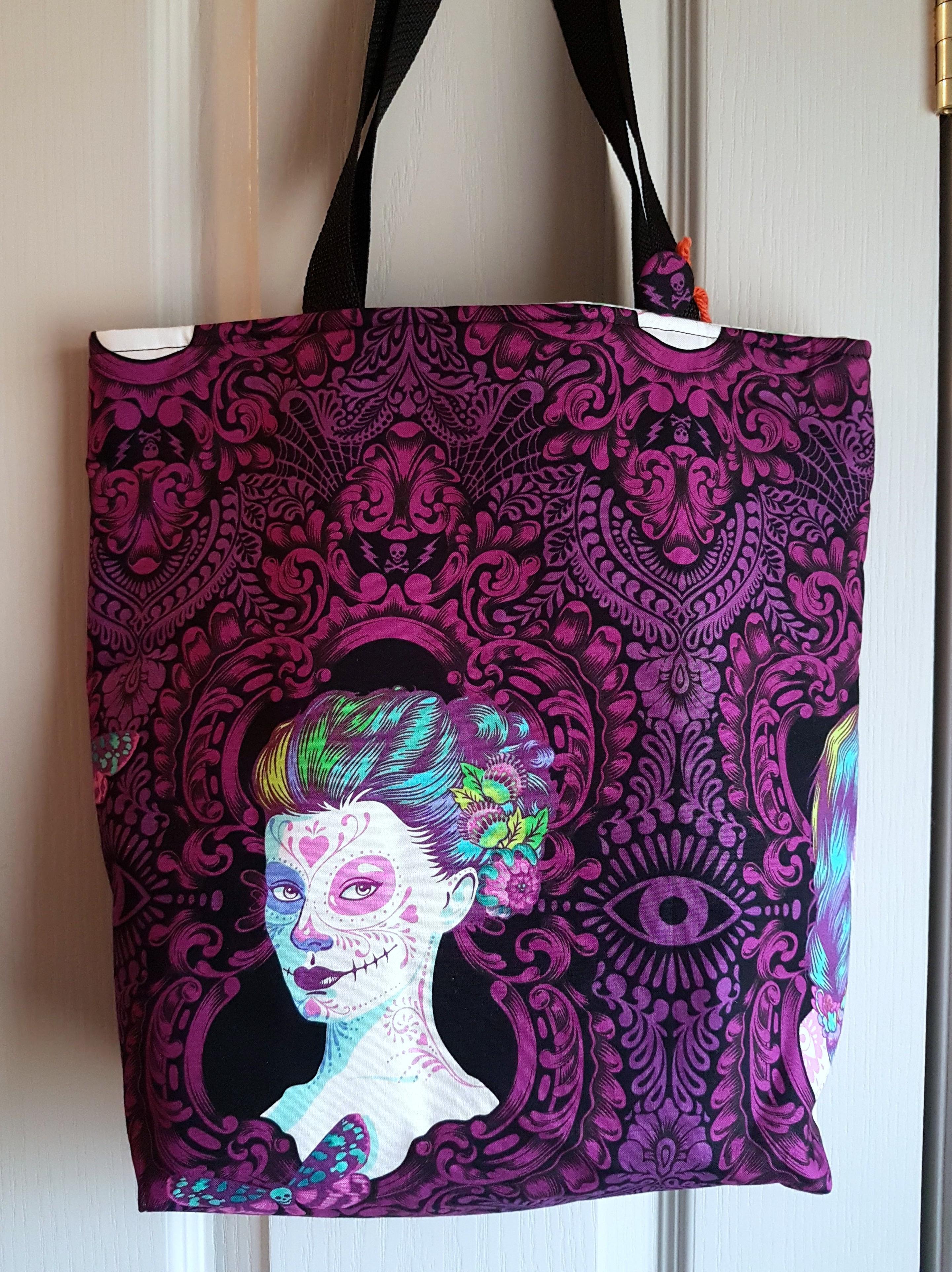 8154a4c1513 Zombie Ladies Handmade Tote Purse Bag - by MaCobbsHatShoppe on Zibbet