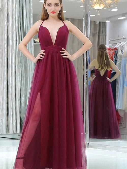 Halter Tulle Prom Dresses Wedding Party Dresses Formal Dresses