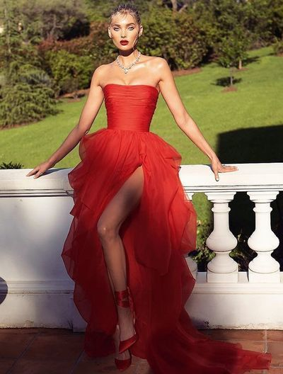 sexy red evening dresses