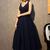 Vintage V Neck Nave Blue Satin Homecoming Dresses Party Dresses