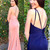 Sexy V-neck Long Blush Pink Prom Dress with Side Slit, simply long prom dress