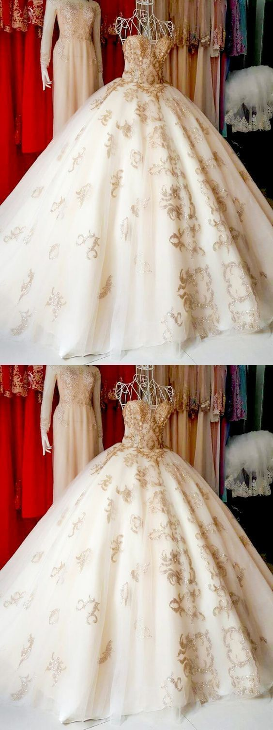 Beautiful Prom Dresses Ball Gown Sweep/Brush Train Tulle Sexy Prom Dress/Evening