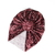 Top Knot Turban - 0-3 Months - Wine Vines Crushed Velvet