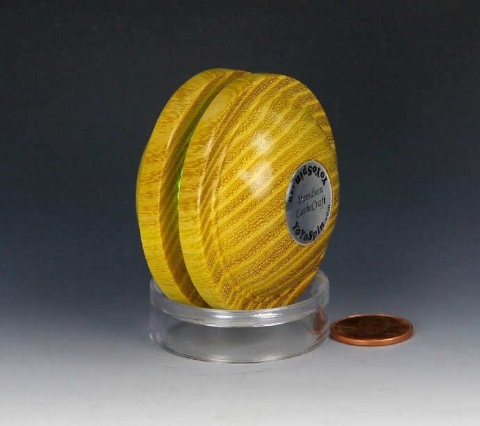 Handmade Toy YoYo, Fixed Axle Satellite Shape, Osage Orange Wood