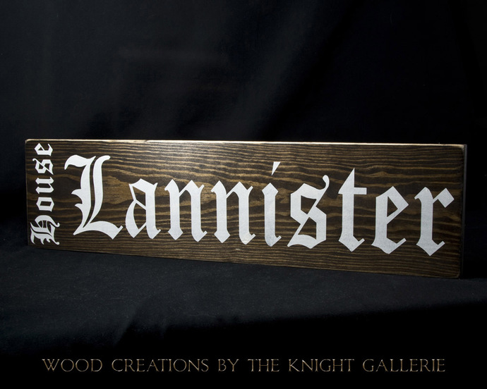 House Lannister / Game of Thrones (inspired) Wall Art